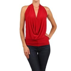 Latin Halter Neck Top Red Pic 1