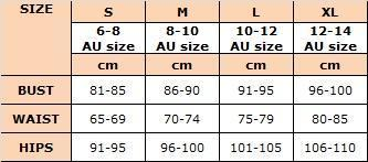 MDW Clothing Size Chart