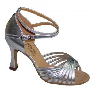168603 Ladies Latin/Latin Shoes 168603 | Morena Dancewear Ladies Latin and Salsa Shoes, model 168603 in silver leather.