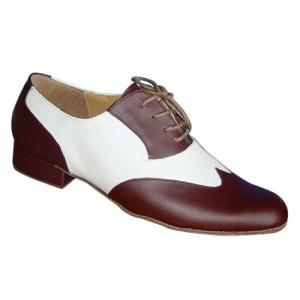 251008_842710863 251008 | Morena Dancewear Latin & Ballroom Shoes, model 251008 in brown and white leather.