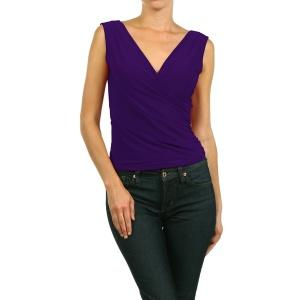 V-neck PurpleTop