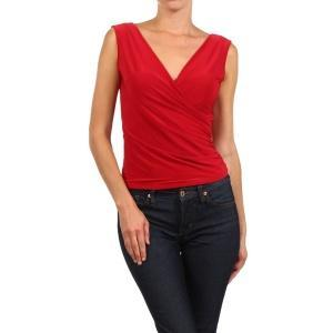 V-neck Red Top